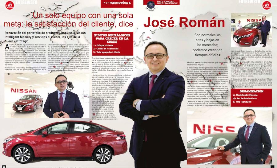 """""""One Team Spirit"""" Un solo equipo con una sola meta: La satisfacción total del cliente: José Román Visión Automotriz Magazine Entrada"""